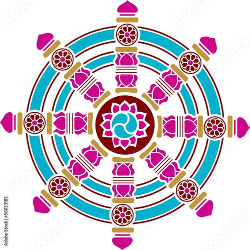 dharma chakra rad gl ck symbol buddhismus stockfotos und lizenzfreie vektoren auf fotolia. Black Bedroom Furniture Sets. Home Design Ideas
