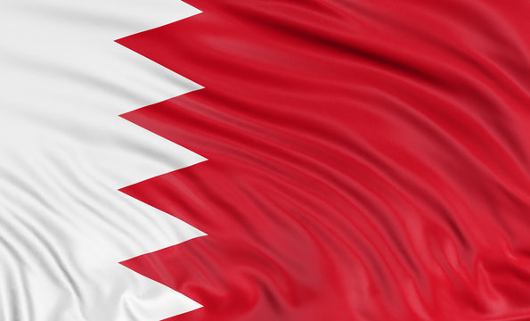 3D Flag of Bahrain