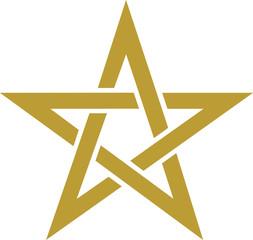 Pentagramm - Goldener Schnitt - Magie Symbol