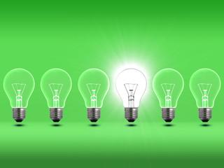 Light bulbs Green