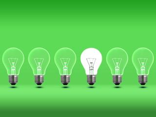 Light bulbs Green 2