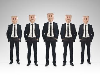 Businessman sadness concept