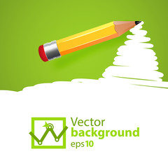 Vector pensil background with drawn spot