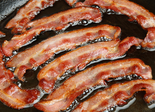 Bacon Cooking in Frypan