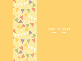Vector Party Decorations Bunting Horizontal Seamless Pattern