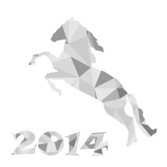 Canvas Prints Geometric animals 2014 - the year of horse