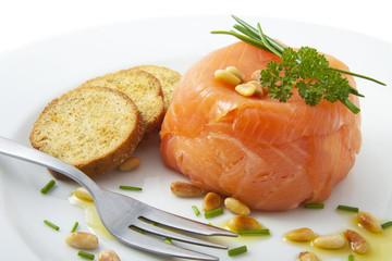 Filled salmon