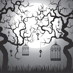 Recess Fitting Birds in cages Enchanted forest
