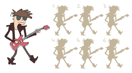 Guitar Player Shadows Visual Game