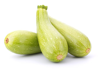 Fresh vegetable marrow isolated on white background