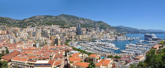 Wide Panorama of Monaco Monte Carlo