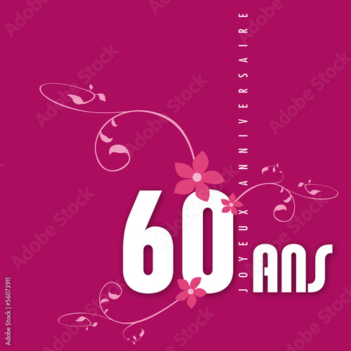 Anniversaire 60 ans fichier vectoriel libre de droits sur la banque d 39 images - Animation anniversaire 60 ans femme ...