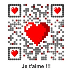 Je t'aime !!! - QR Code french