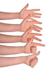 daumen hoch - finger zeigen