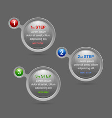 Progress steps design elements