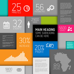 Vector abstract squares background / infographic template