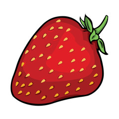 vector cartoon strawberry