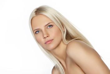 Obraz Portret pięknej blond dziewczyny - fototapety do salonu