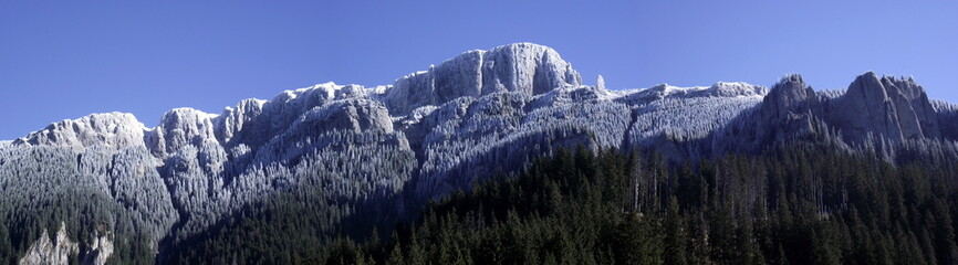 frosted mountain ridge