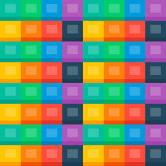 Flat background (seamless pattern, colourful cubes)