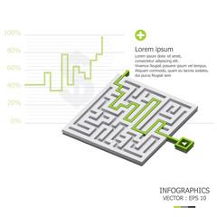Maze Infographics Design Template