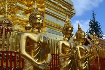Buddha statues in Chiang Mai, Thailand