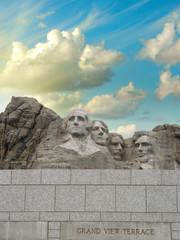 Fototapete - Mount Rushmore - South Dakota. Mountain and Grand View Terrace W