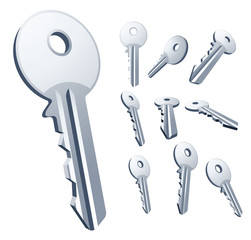 Keys. Vector set.