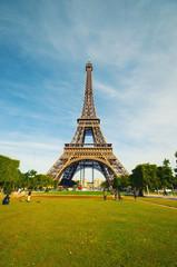 Photo sur Toile Paris Eiffel tower in Paris