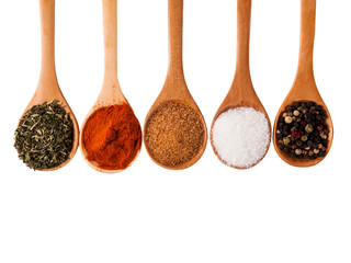 In de dag Kruiden Spices isolated