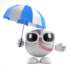 Baseball with umbrella