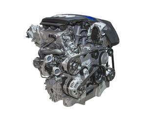 Motor eines modernen Autos der Luxusklasse
