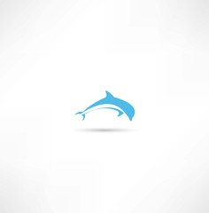 Photo sur Aluminium Dauphins dolphins icon