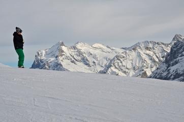 Jungfrau Massif in Bernese Alps, Switzerland