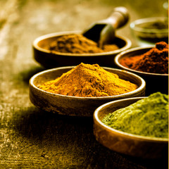 Bowl of Asian curry powder