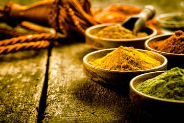 Asian cuisine with colourful spices