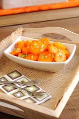 Tapa de zanahorias aliñadas