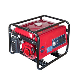 portable gasoline generator. isolated on a white background.
