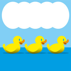 Vector Ducks For Clouds For Text