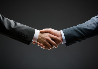 Close up of handshake of business people