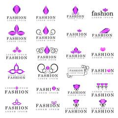 Fashion Icons Set - Isolated On White Background