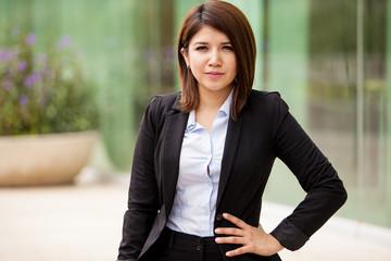 Portrait of cute businesswoman