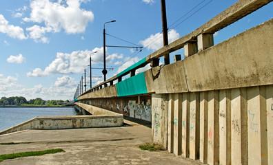 Island bridge in Riga.