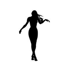 Girl model pose on white background