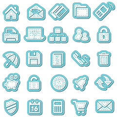 Sticker icon sticker label sticker vector icon collection