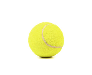 Single tennis ball isolated.