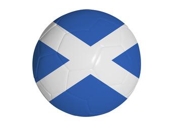 Scottish flag graphic on soccer ball