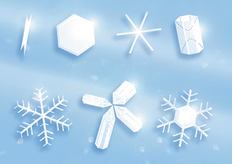 Snow Crystal Shapes