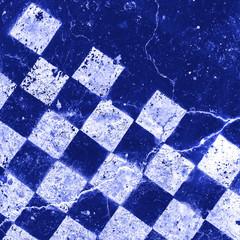 part blue checkerboard