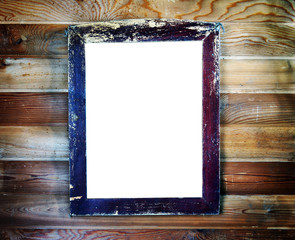 Old vintage wooden frame with empty space for text